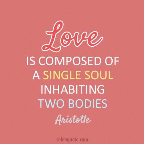 Aristotle Quote (About soul love bodies)