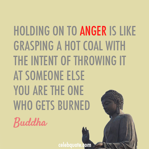 Buddha Quote (About hurt coal angry anger)