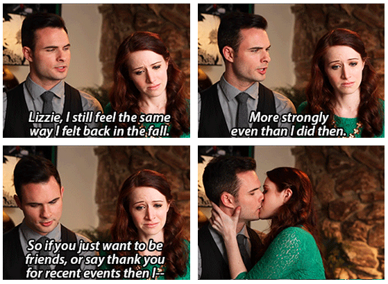 The Lizzie Bennet Diaries Quote (About love kiss)