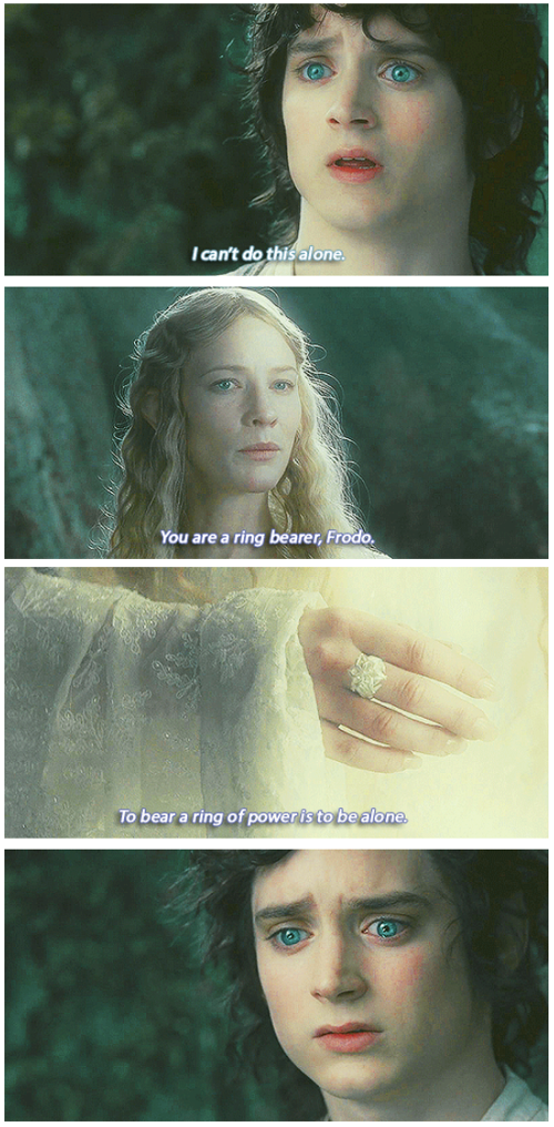 The Lord of the Rings: The Fellowship of the Ring (2001) Quote (About ring alone)