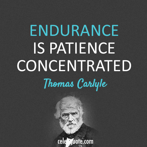 Thomas Carlyle Quote (About patience endurance)