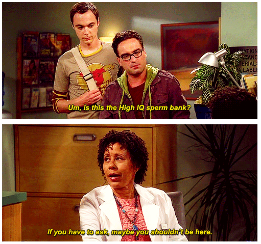 The Big Bang Theory Quote (About sperm IQ gifs)