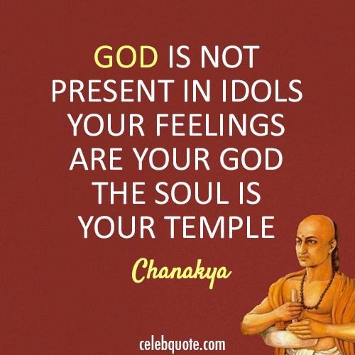 Chanakya Quote (About temple idols god)