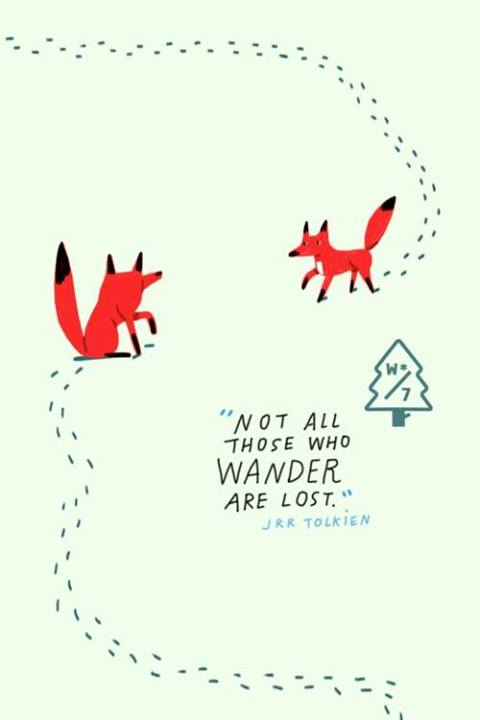 J.R.R. Tolkien Quote (About wander lost)