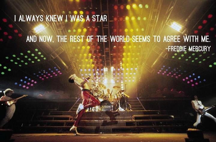 Freddie Mercury Quote (About world star fame)