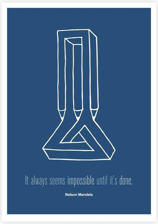 Nelson Mandela Quote (About impossible done)